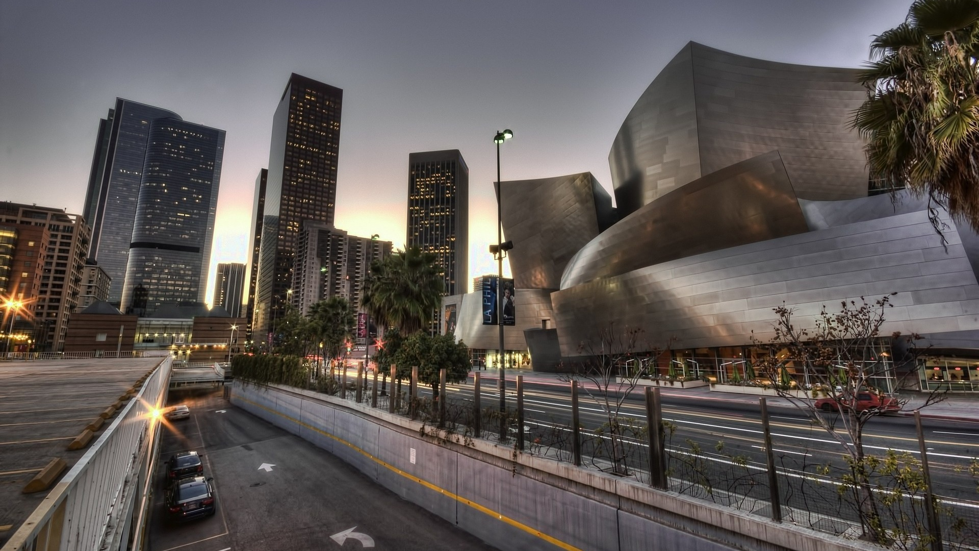 hall los angeles california usa hdr Full HD 1080p HD Background 1920x1080