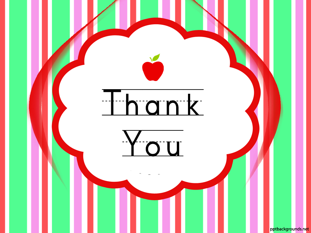 Thank You Cards For Teachers Backgrounds For PowerPoint   Events 1024x768