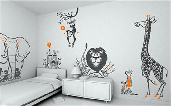 Animal Wallpaper for Kids Bedroom 550x341