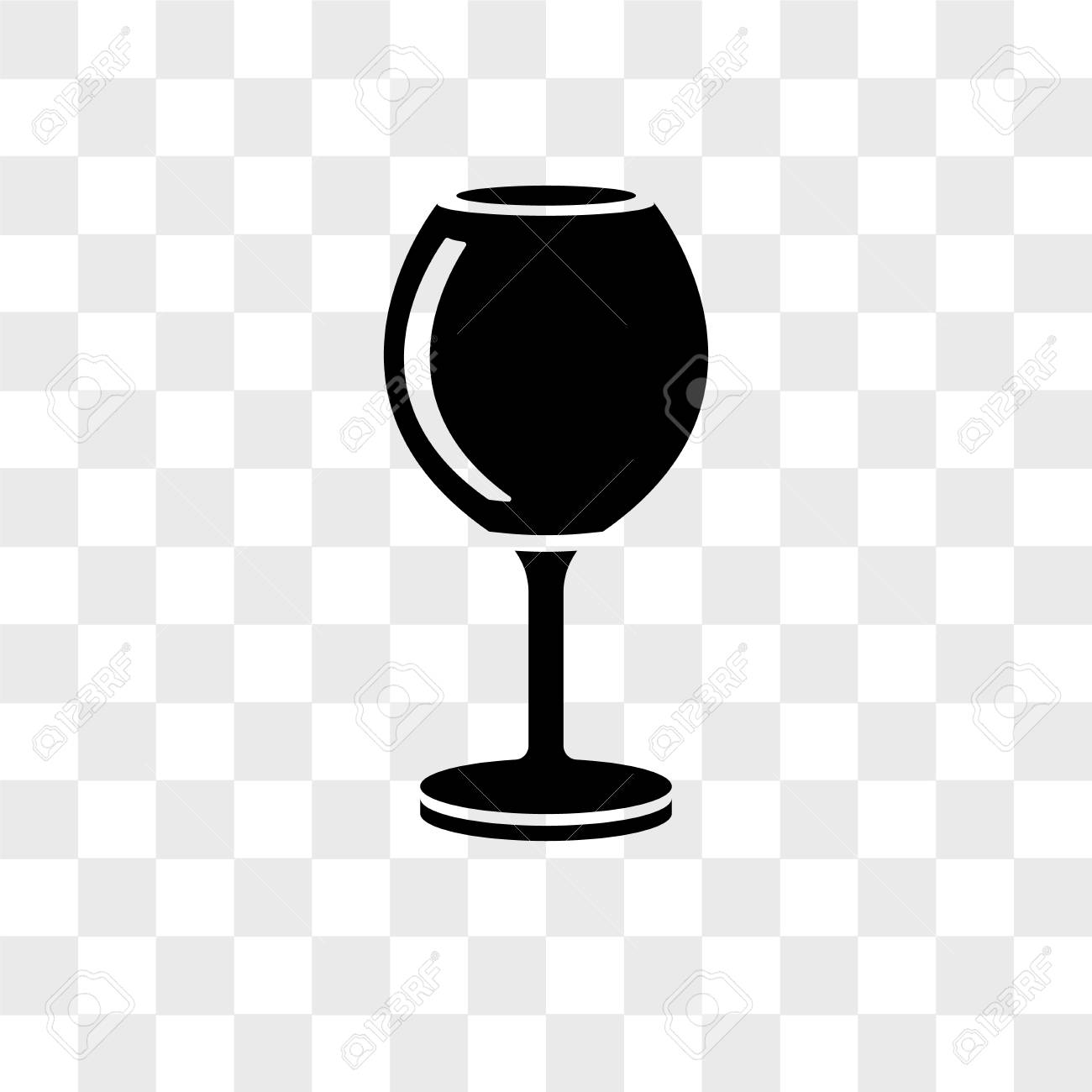 Wine Glass Vector Icon Isolated On Transparent Background Wine 1300x1300