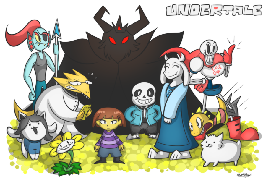 Some fanart of the Undertale cast Undertale Know Your Meme 900x619