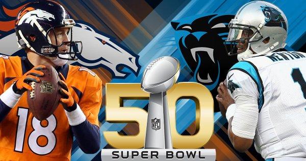 Super Bowl 50 Carolina Panthers vs Denver Broncos   ClutchFans 600x315