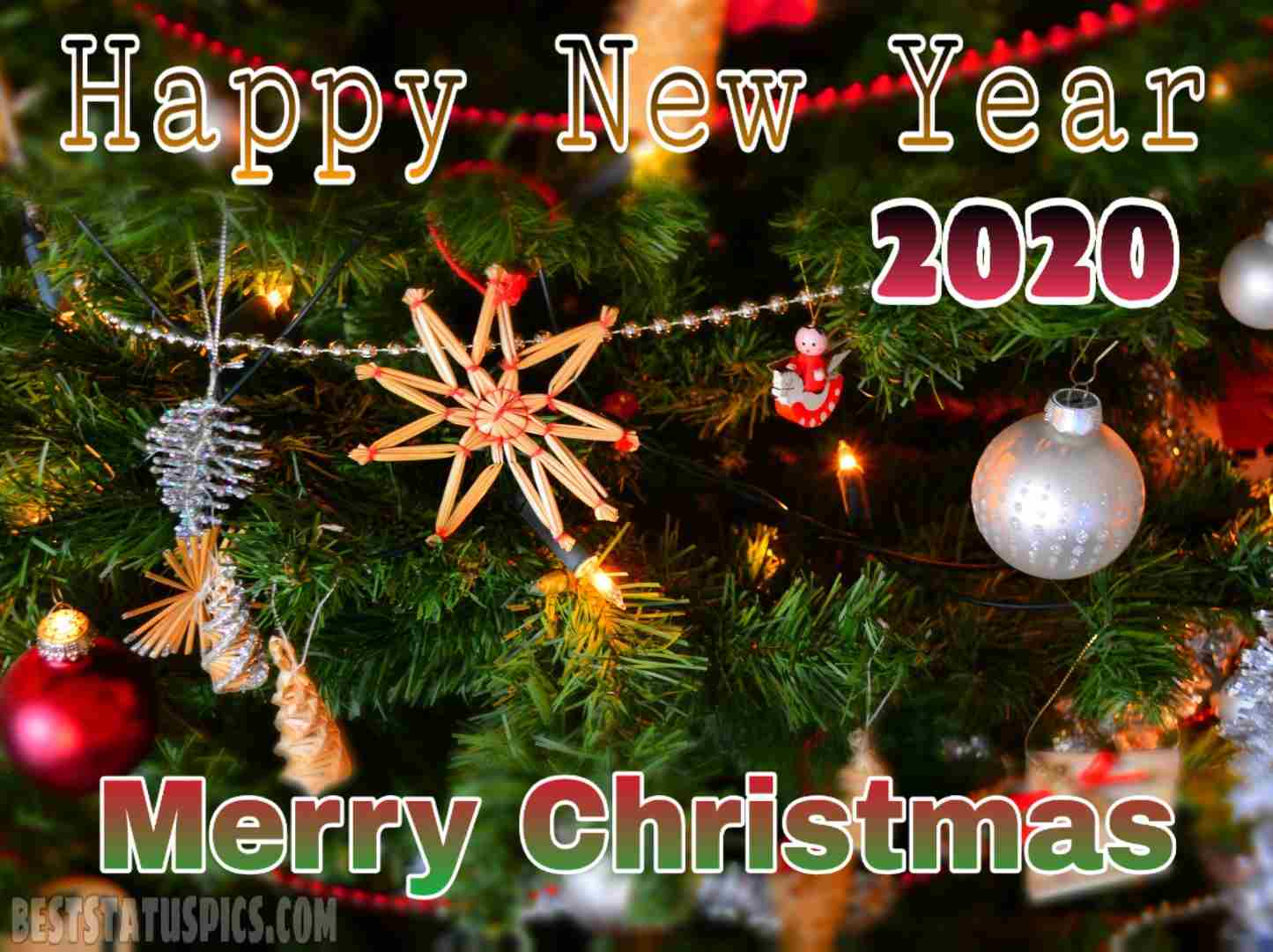 Merry Christmas Happy New Year 2020 Facebook Cover Whatsapp dp 1445x1080
