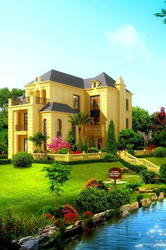 Beautiful house wallpaper 10490 PC en 640x960