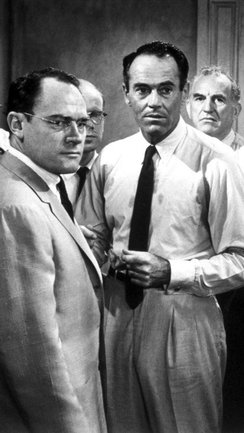 Download wallpaper 800x1420 12 angry men men actors black white 800x1420