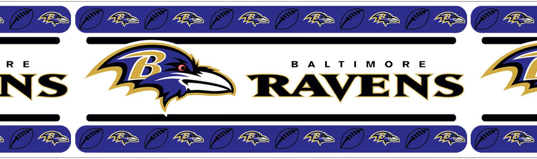 NFL Baltimore Ravens Wall Border Boys Football Wallpaper Border Roll 1498x446