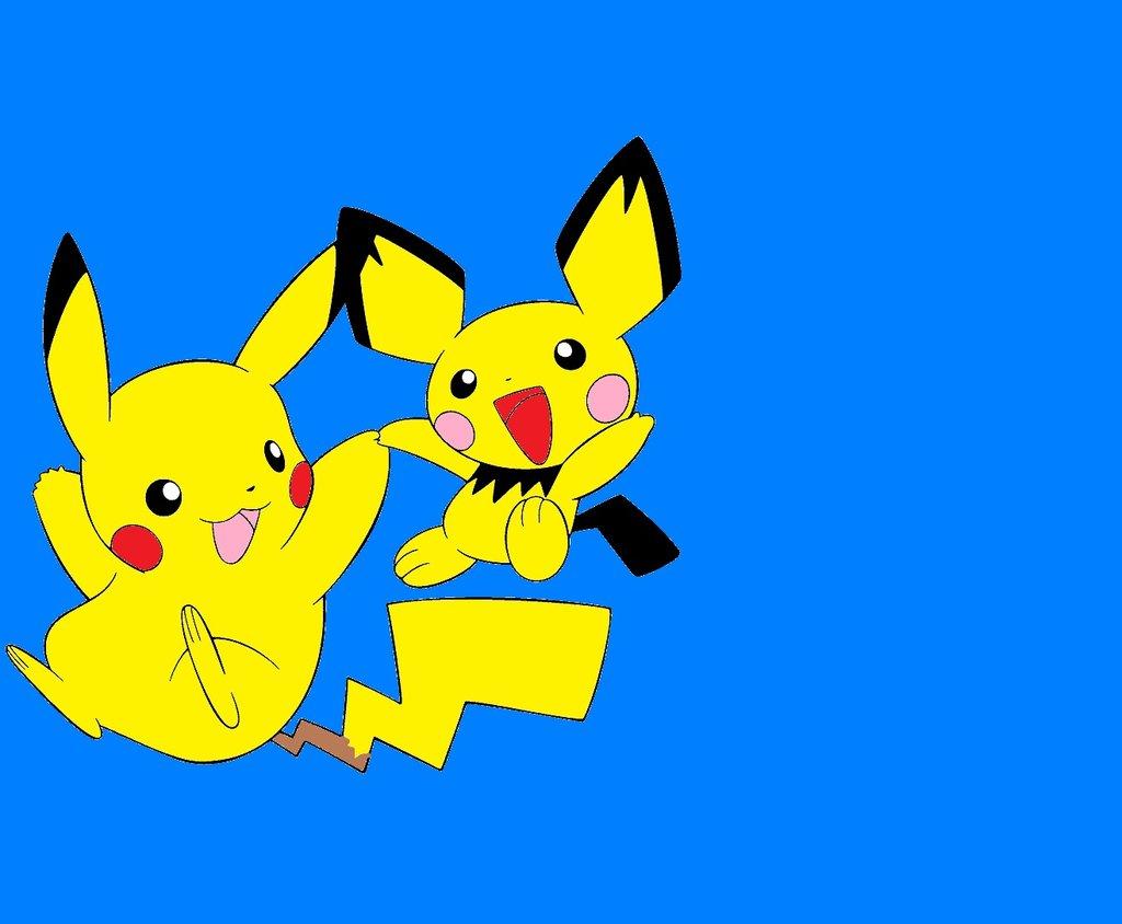 Pikachu and Pichu wallpaper by SonicMauriceHedgehog 1024x844