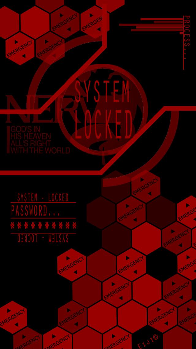 nerv wallpaper LOCK CR by Eiji Himura Fondo de 640x1136