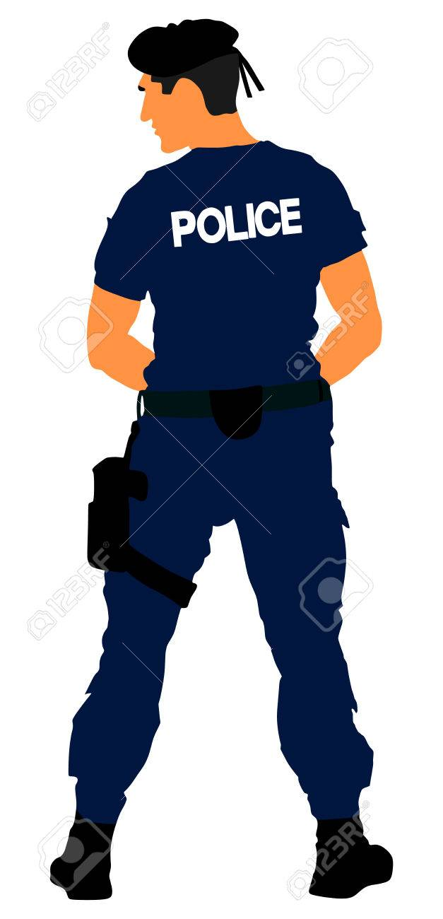 Police Officer Vector Isolated On White Background Policeman 627x1300