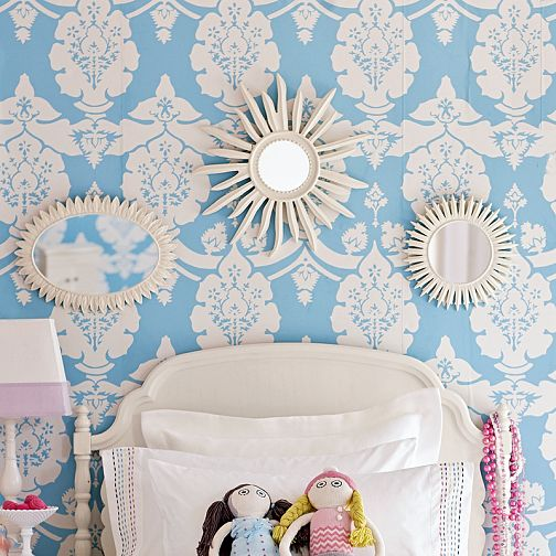 Wallpaper for Girls Room   Traditional   girls room 504x504