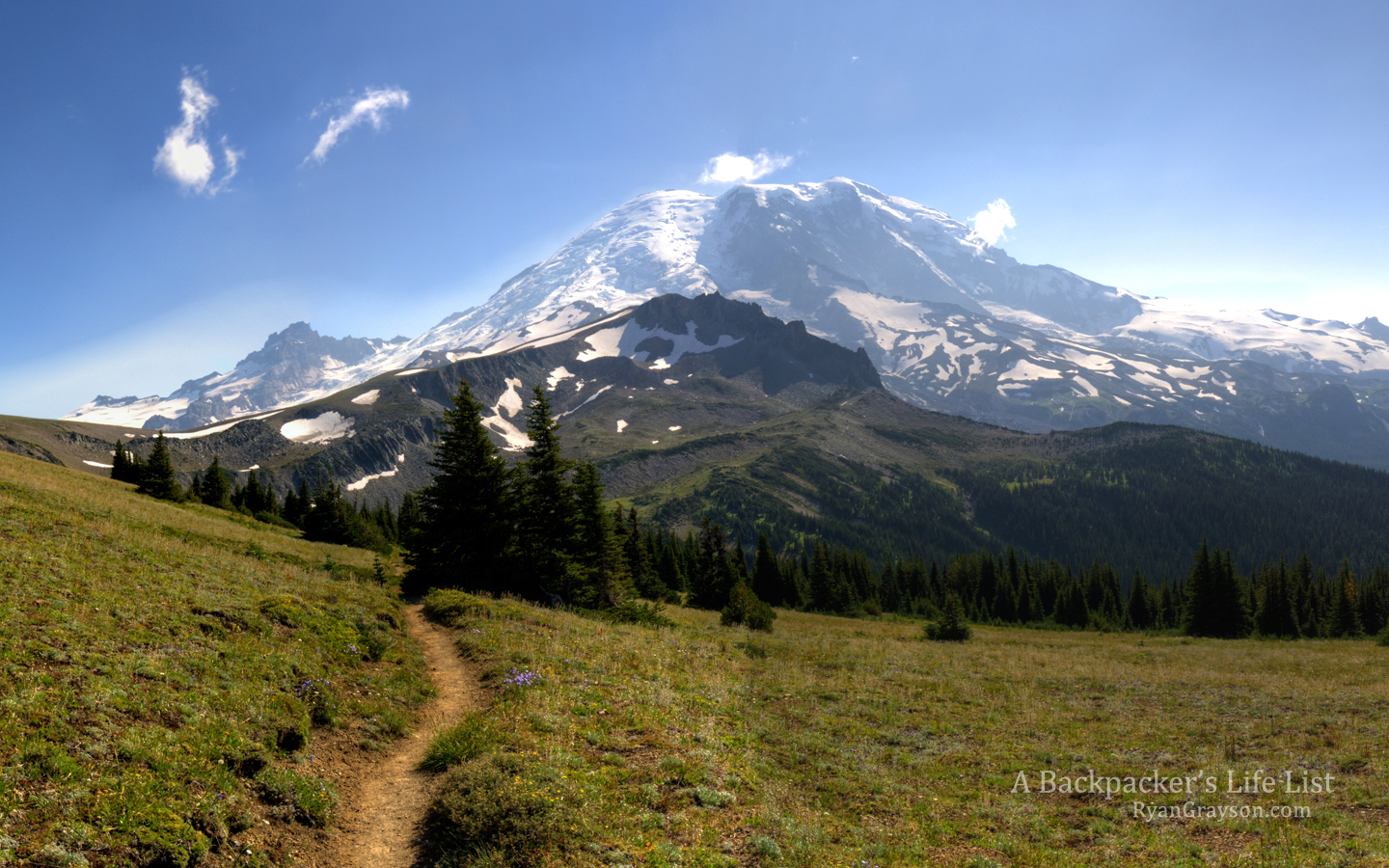 Desktop Background Mount Rainier from the Wonderland Trail A 1440x900