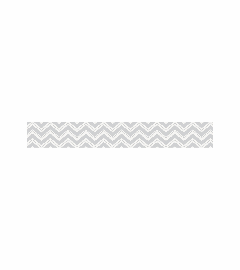Sweet JoJo Designs Zig Zag Turquoise Grey Chevron Wallpaper Border 800x900