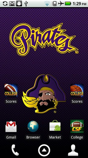 Officially licensed East Carolina Pirates Live Wallpaper with 288x512