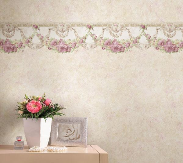 vintage rose wallpaper border 600x534