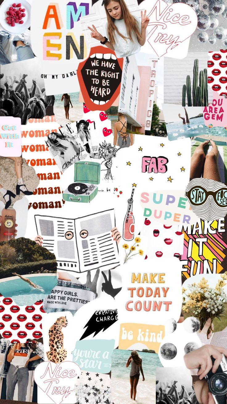 Collage Iphone wallpaper Collage background Aesthetic iphone 736x1308