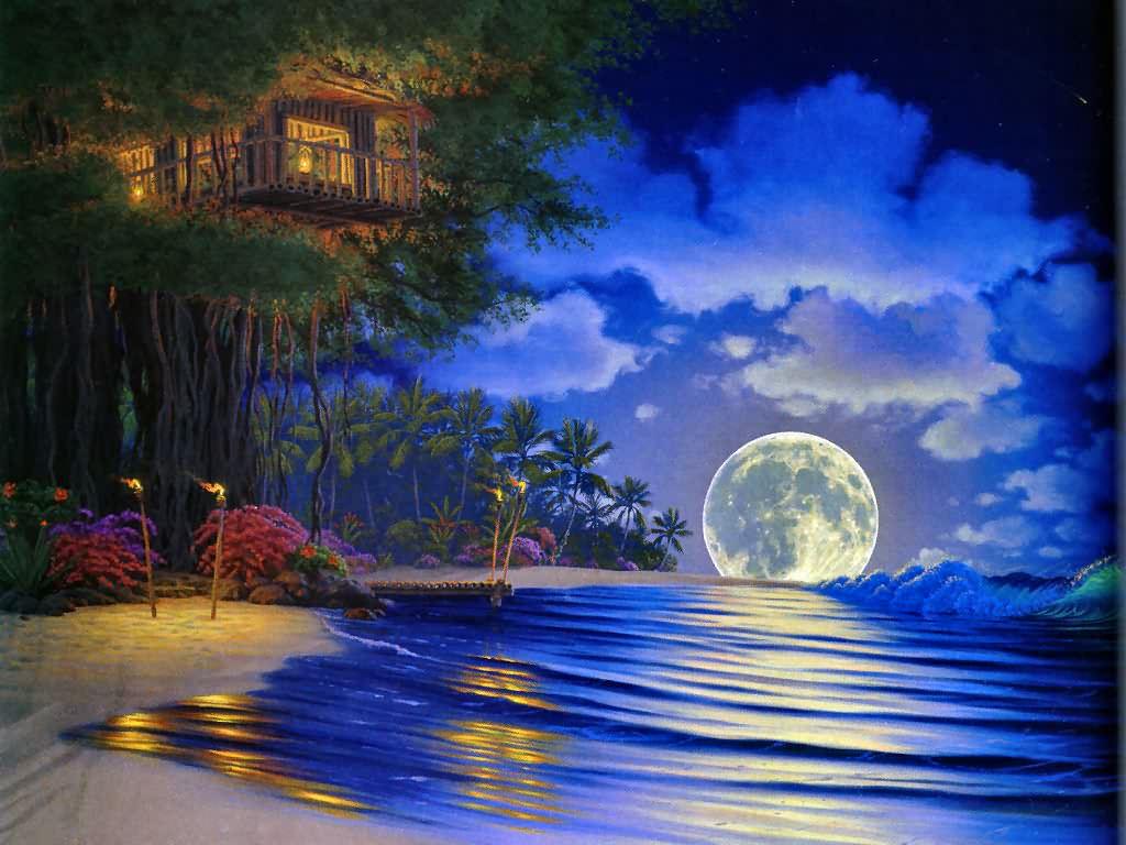 Fantasy Moon Desktop Wallpapers Download 11628 Wallpaper 1024x768