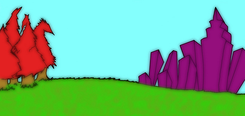 Flash animation background for scene 1 in the animated ver 500x238