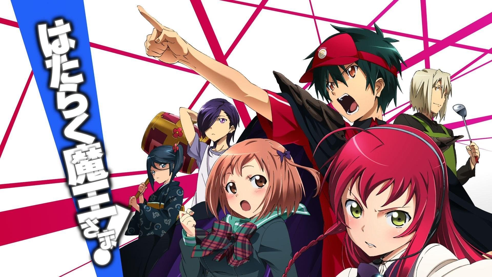 hataraku maou sama sadao mao amy yusa Wallpaper HD Anime 4K 1920x1080
