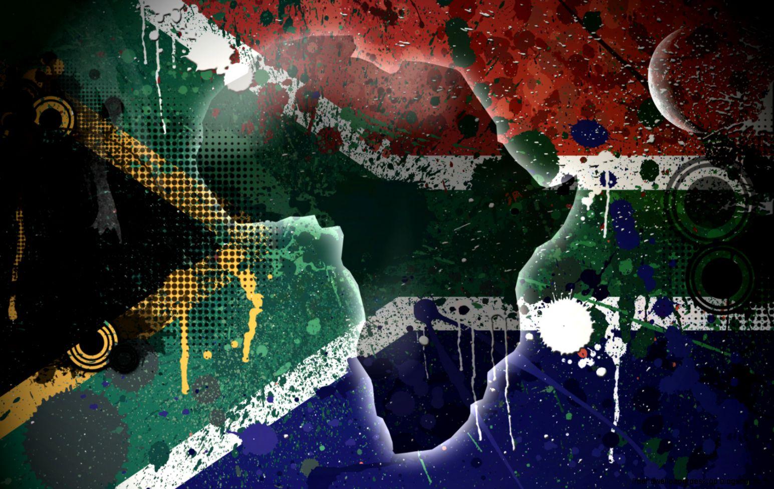 South Africa Flag Hd Wallpaper Desktop Wallpapers Sinaga