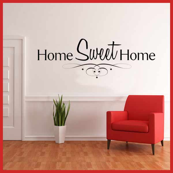 Home Sweet Home Wall sticker decals 600x600