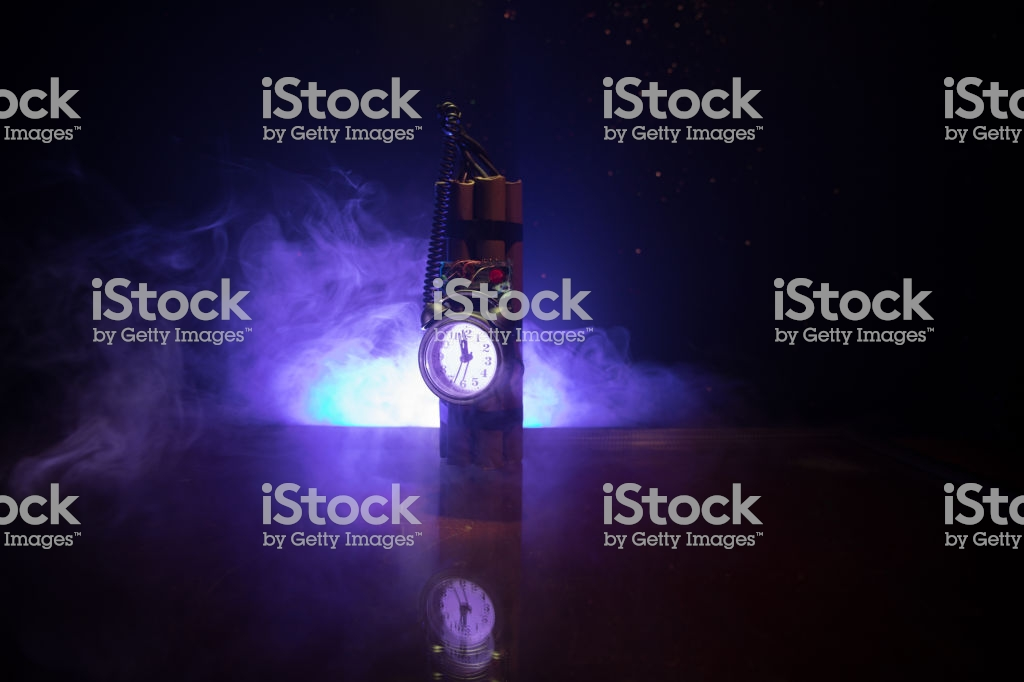 Image Of A Time Bomb Against Dark Background Timer Counting Down 1024x682