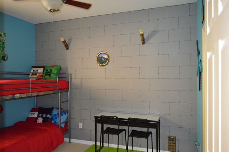 Room Minecraft Theme Minecraft Room Boys Room Bedroom Pictures 736x487