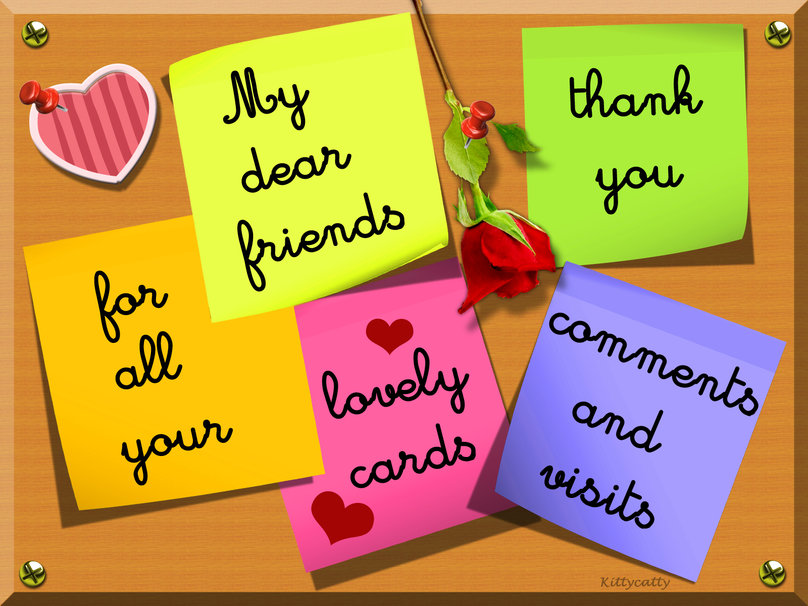 Thank you card for all my DN friends wallpaper   ForWallpapercom 808x606