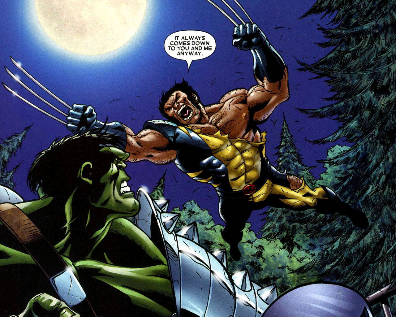 Marvel Wolverine Vs Hulk Wallpaper