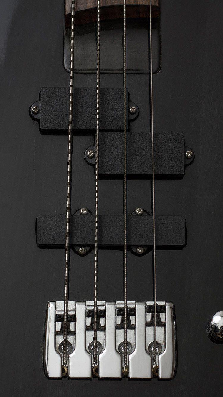 GUITAR BASS ELECTRIC MUSIC DARK BLACK ILLUSTRATION ART WALLPAPER 750x1334