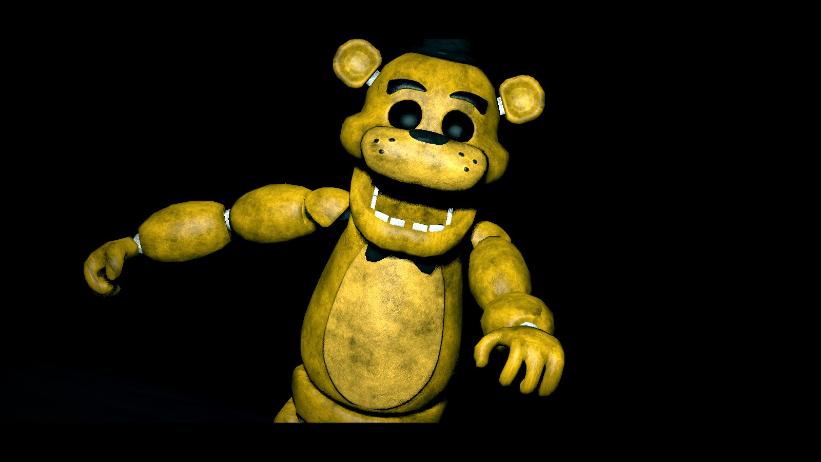 golden freddy the possessed suit by crazybot1231 1600x900
