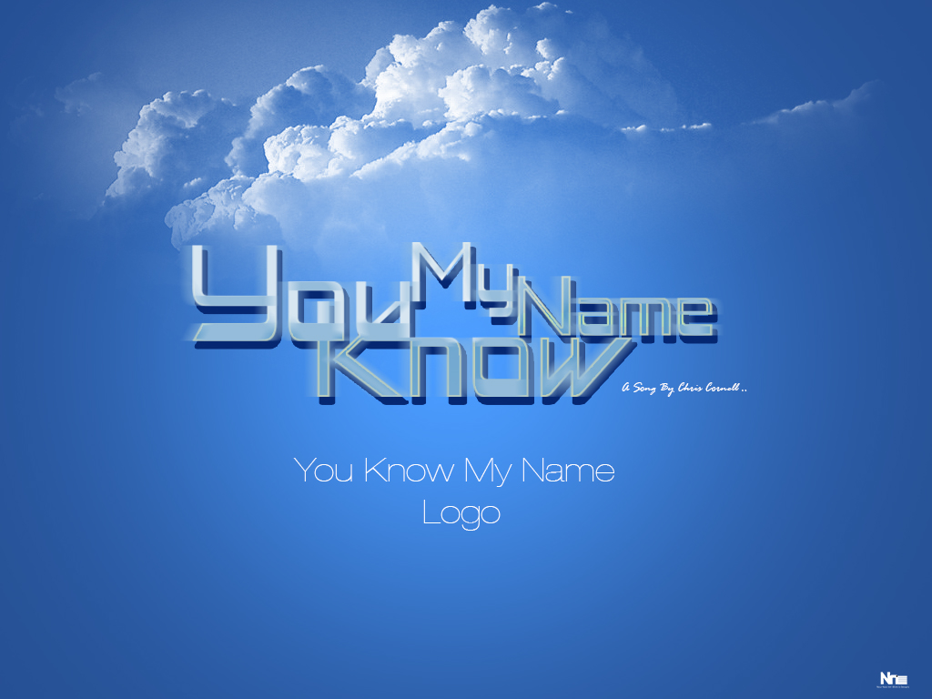 You Know My Name Logo Wallpaper Version by NourNasr 1024x768