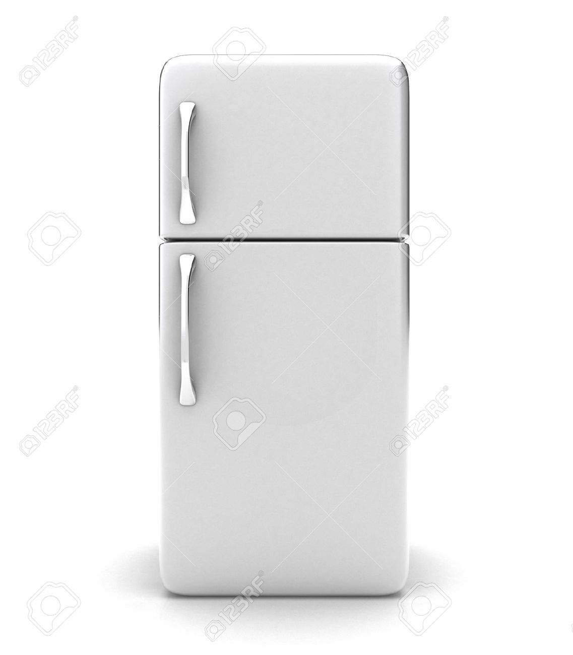 Illustration Of A New Fridge On A White Background Stock Photo 1137x1300