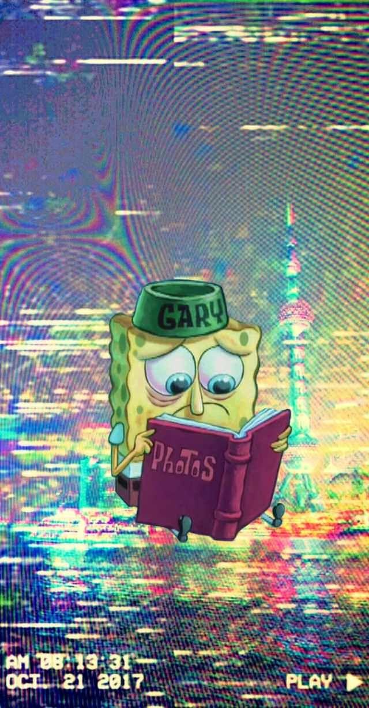 Spongebob   Sad Spongebob Wallpaper Aesthetic 1372405   HD 640x1224