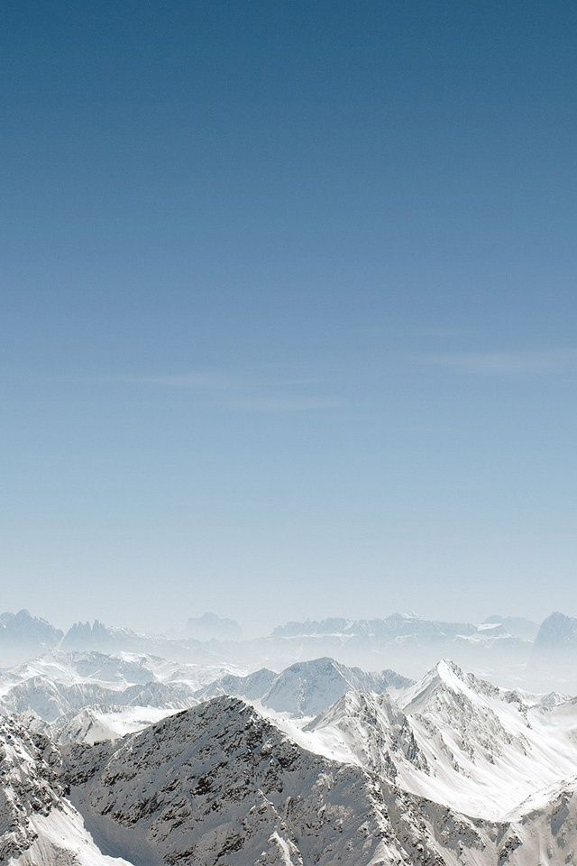 Snow Mountains iPhone Wallpaper iPod Wallpaper HD 640x960