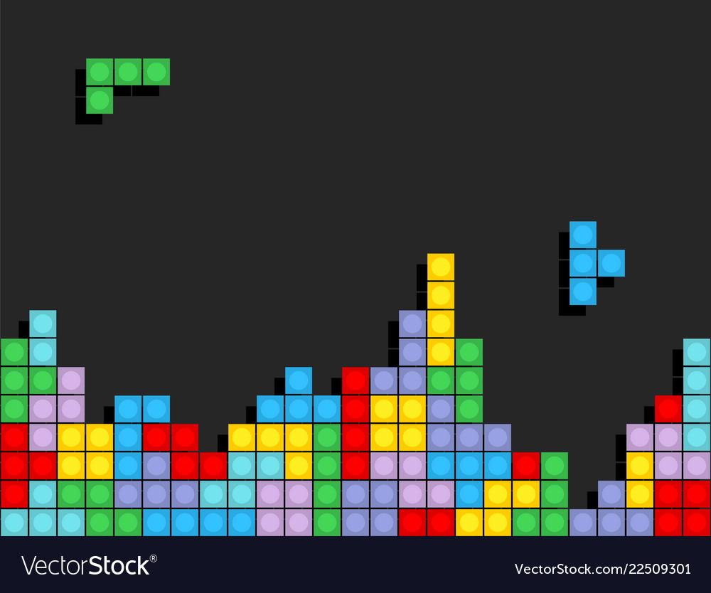 Game tetris pixel bricks colorfull game background 1000x834