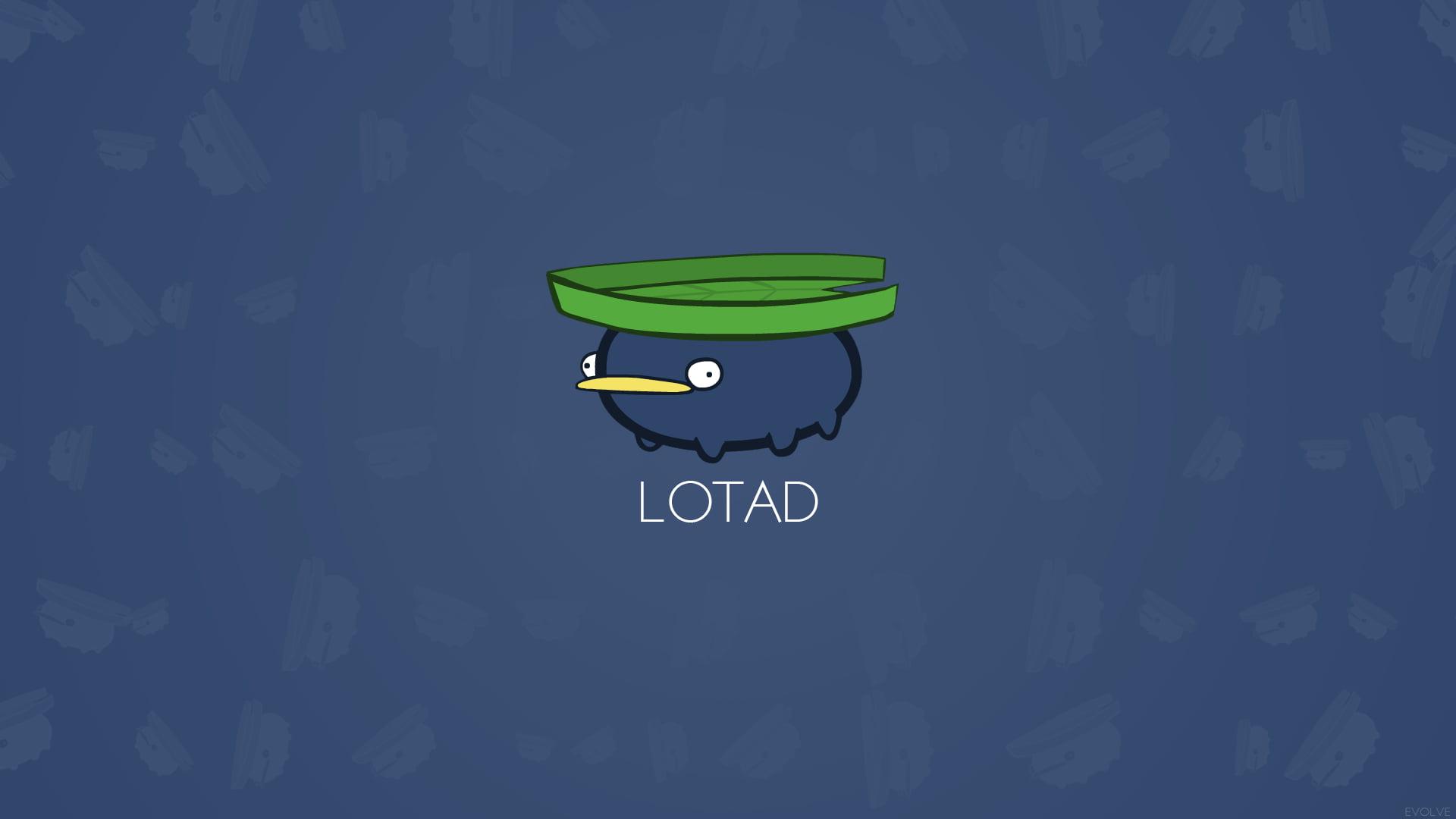 Lotad emoji illustration Lotad Pokmon HD wallpaper Wallpaper 1920x1080