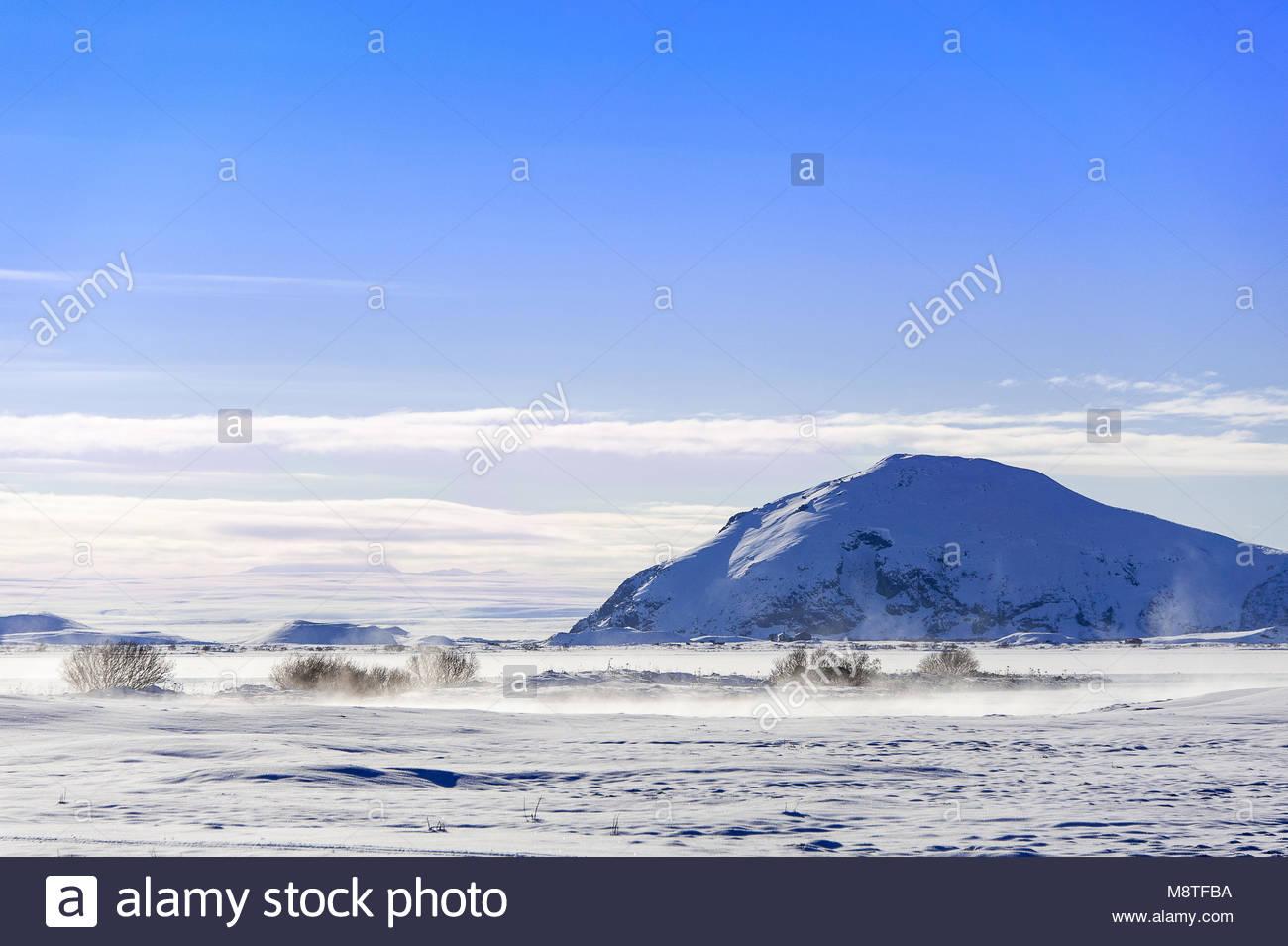 Myvatn geothermal lake and Mount Vindbelgjarfjall northern 1300x955