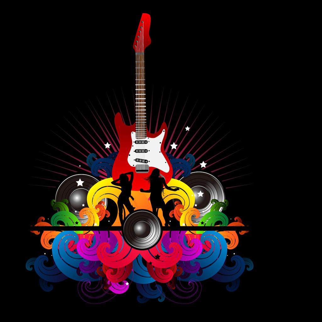 Electric guitar vector iPad Backgrounds Best iPad Wallpaper 1024x1024