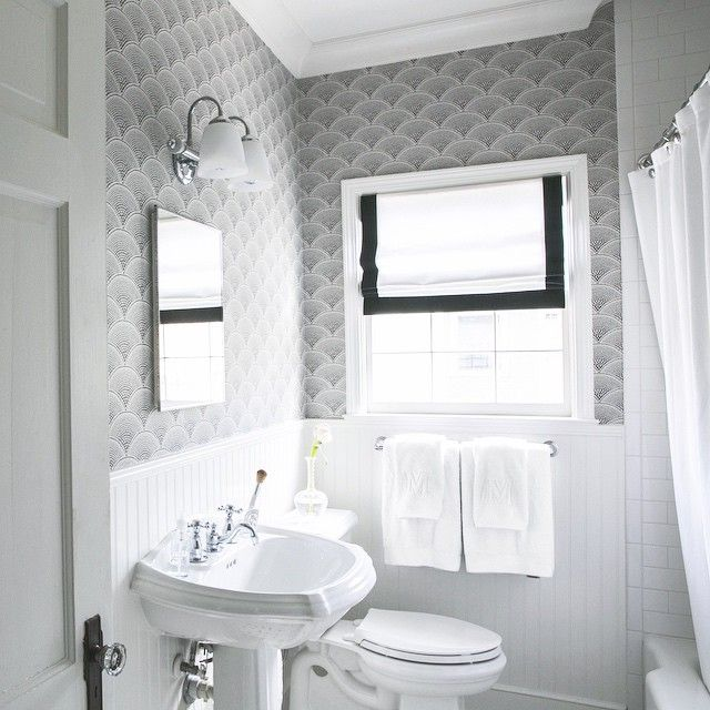 Free Download Black And White Bathroom Wallpaper Black And White Roman Shade 640x640 For Your Desktop Mobile Tablet Explore 50 Black And White Wallpaper For Bathroom Black And White
