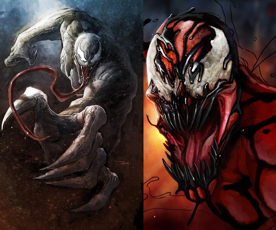 Carnage Vs Venom Hd Wallpaper wallpapersoutnowwebsite 960x800