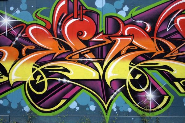 Graffiti Wallpaper Custom Wallpaper Mural Print by Jw Shutterstock 600x400