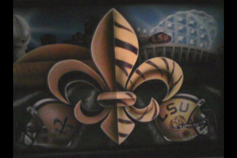 Saints and LSU Artwork   New Orleans Saints   Saints Report   Message 800x533