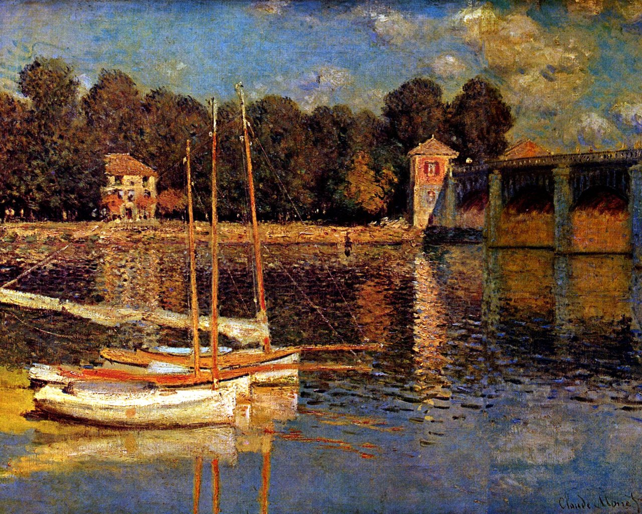 Western Paintings French impressionist painting Claude Monet 1280x1024