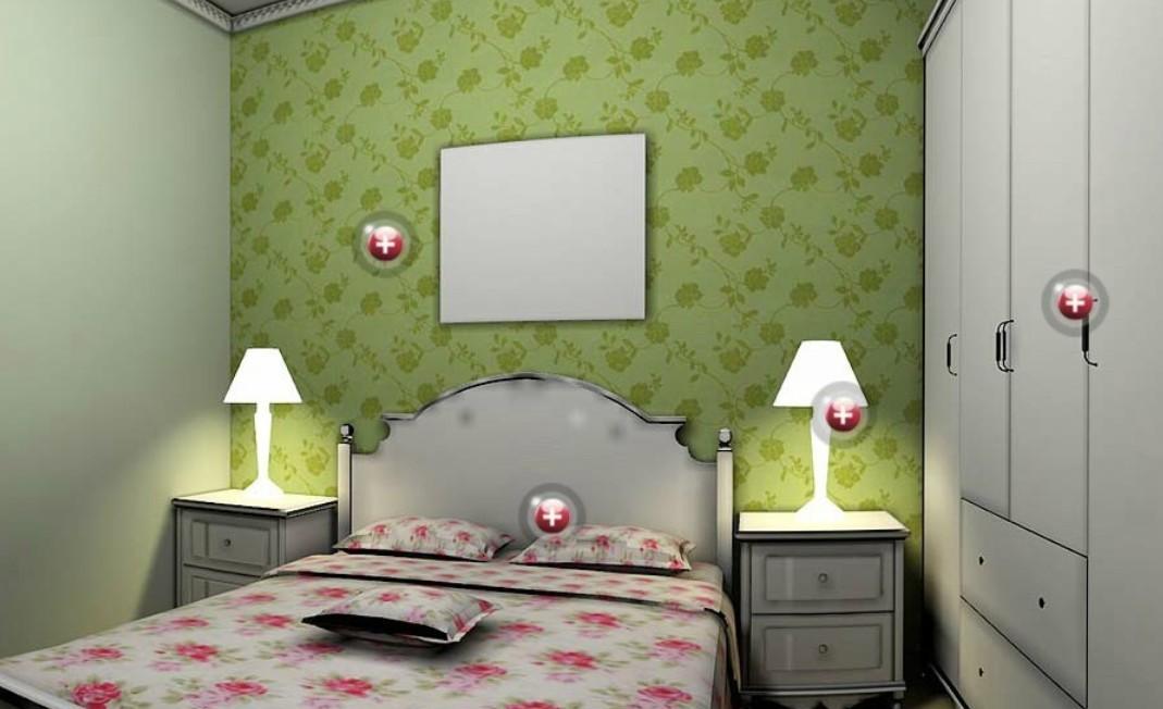 interior hd wallpaper green curtains and wallpaper design 3d bedroom 1069x652