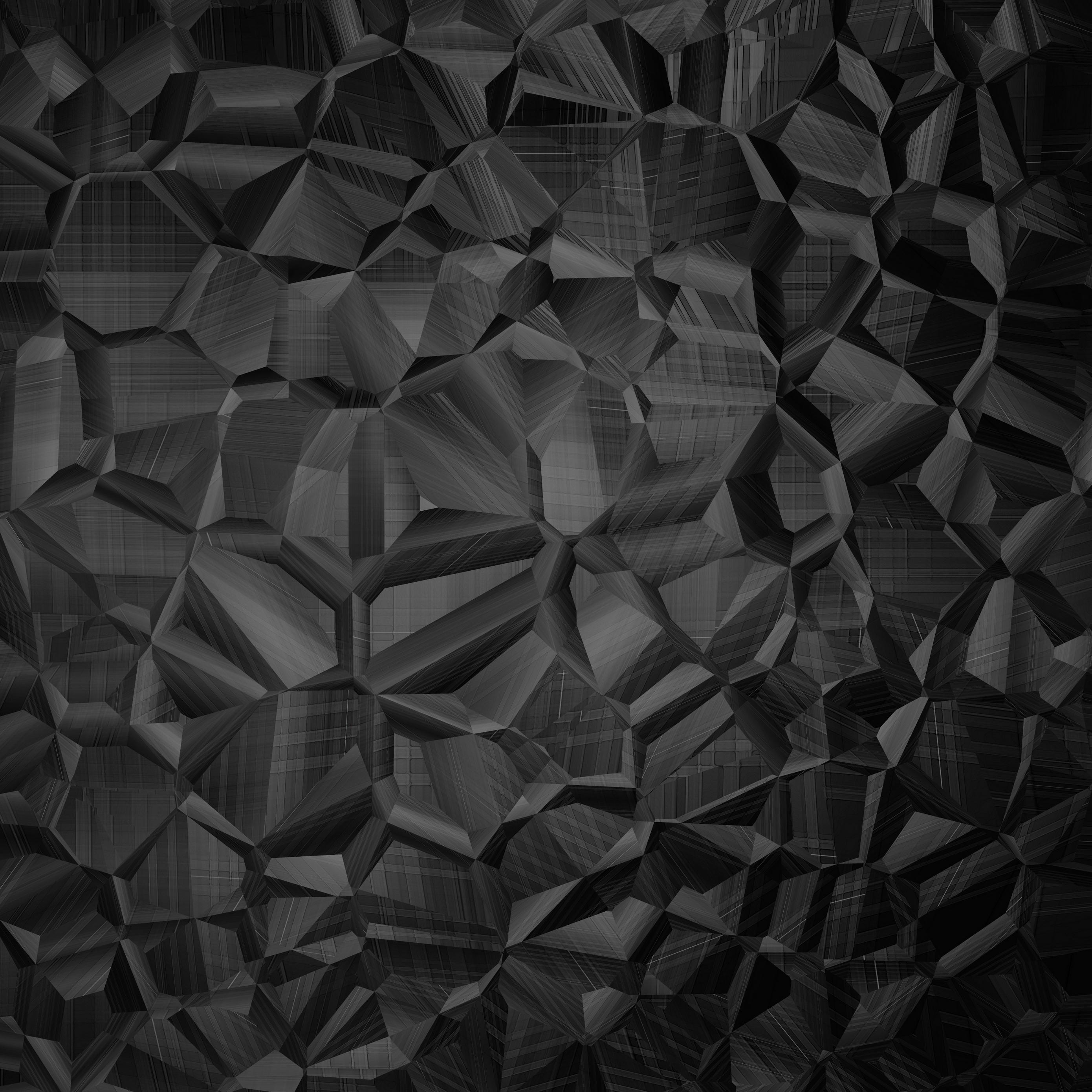 Download wallpaper 2780x2780 polygon surface black ipad air 2780x2780
