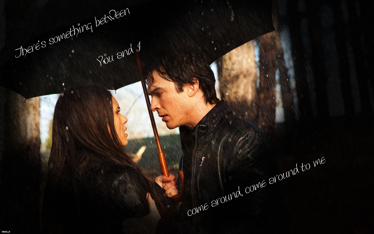 Damon and Elena Wallpaper   The Vampire Diaries TV Show 1280x800