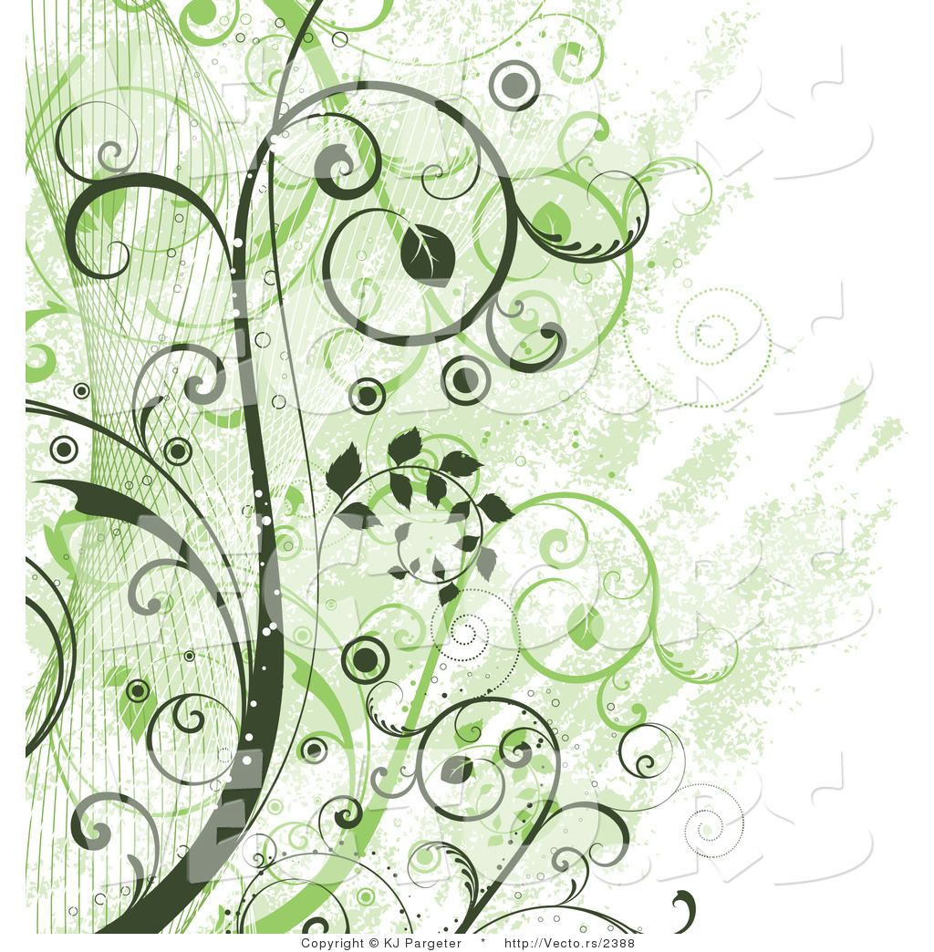 Vector of Green Vines Background by KJ Pargeter   2388 1024x1044