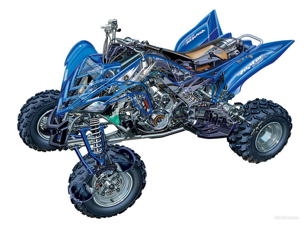 Yamaha raptor 700r 1024 x 768 wallpaper