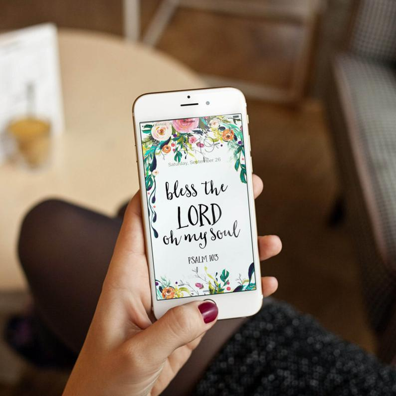 Bible verses art for iPhone Lock Screens Cell Phone Etsy 794x794