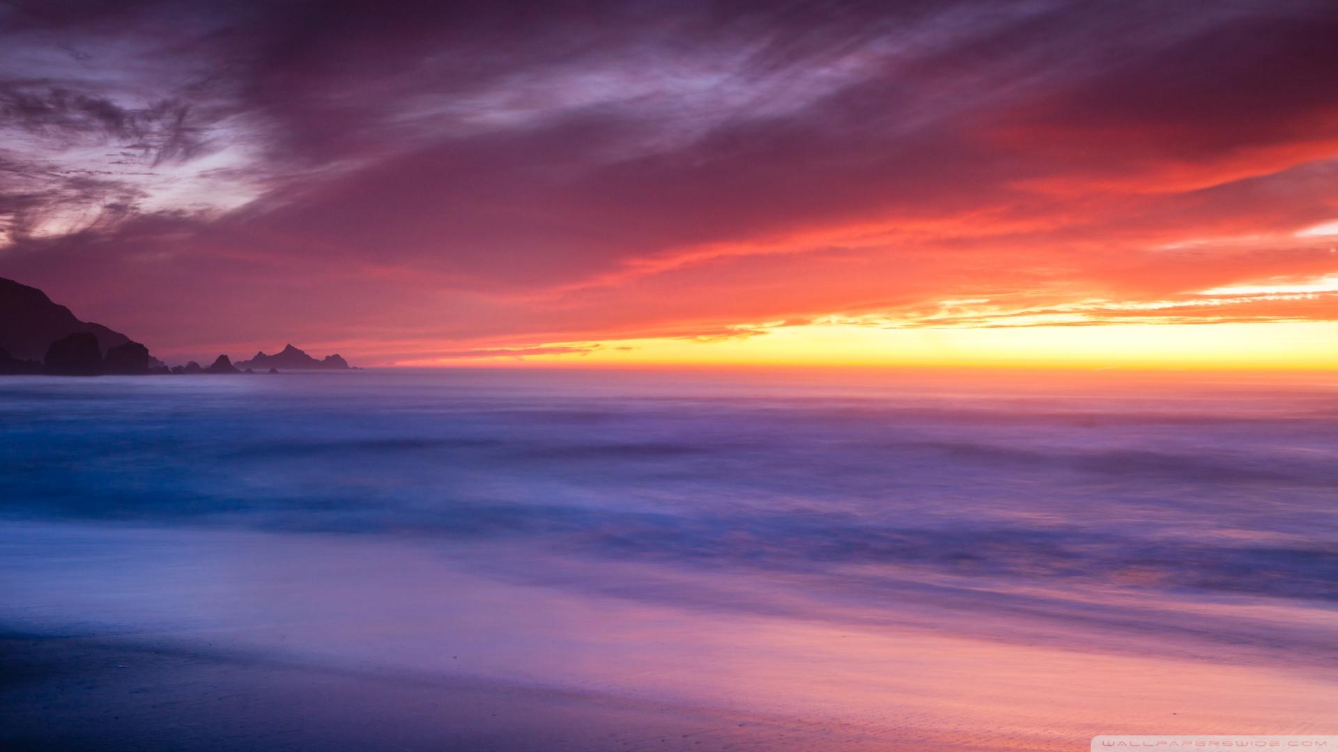 California Beaches Wallpaper Rockaway beach california 1920x1080